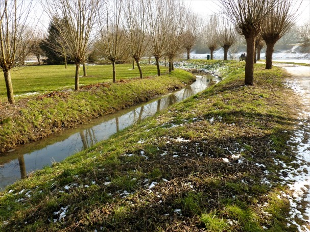 La Pède réapparaît en ruisseau.